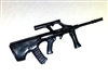 AUG77 Assault Rifle BLACK Version - 1:18 Scale Weapon for 3 3/4 Inch Action Figures