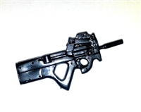 "P90 PDW ""Personal Defense Weapon"" BLACK Version - 1:18 Scale Weapon for 3 3/4 Inch Action Figures"