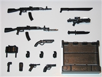 """Marauder - Series #3"": Complete Set (16 Weapons & Weapon Accessory Pieces) - 1:18 Scale Weapons for 3 3/4 Inch Action Figures"