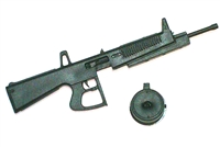AA12 Automatic Shotgun with Ammo Drum BLACK Version - 1:18 Scale Weapon for 3-3/4 Inch Action Figures