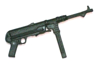 MP40 Machine Gun BLACK Version - 1:18 Scale Weapon for 3-3/4 Inch Action Figures