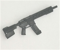"FO6R Assault Rifle w/ Mag BLACK Version BASIC - ""Modular"" 1:18 Scale Weapon for 3-3/4 Inch Action Figures"