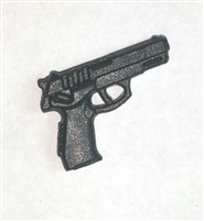DELTA Automatic Pistol  BLACK Version - 1:18 Scale Weapon for 3-3/4 Inch Action Figures