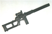 "VSP Assault Rifle w/ Mag & Silencer BLACK Version BASIC - ""Modular"" 1:18 Scale Weapon for 3-3/4 Inch Action Figures"