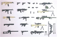 Marauder - Series #8 : Complete Set (50 Weapons & Weapon Accessories) - 1:18 Scale Weapons for 3 3/4 Inch Action Figures