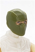 "Male Head: Balaclava Mask OLIVE GREEN Version - 1:18 Scale MTF Accessory for 3-3/4"" Action Figures"