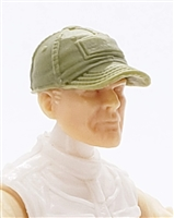 "Headgear: Baseball Cap OLIVE GREEN Version - 1:18 Scale Modular MTF Accessory for 3-3/4"" Action Figures"