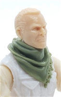 "Headgear: Large Neck Scarf ""Shemagh"" OLIVE GREEN Version - 1:18 Scale Modular MTF Accessory for 3-3/4"" Action Figures"