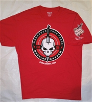 "Marauder Task Force ""Skull & Knife"" Logo T-shirt - RED - Red-Size X-Large"