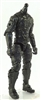 "MTF Male Trooper Body WITHOUT Head BLACK ""Night-Ops"" Version BASIC - 1:18 Scale Marauder Task Force Action Figure"