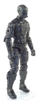 "MTF Male Trooper with Masked Goggles & Breather Head BLACK ""Night-Ops"" Version BASIC - 1:18 Scale Marauder Task Force Action Figure"