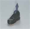 "Footwear: Right Black Boot with Black Armor - 1:18 Scale MTF Accessory for 3-3/4"" Action Figures"