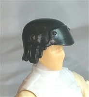 "Headgear: Armor Helmet BLACK Version - 1:18 Scale Modular MTF Accessory for 3-3/4"" Action Figures"
