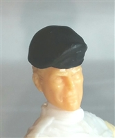 "Headgear: Beret BLACK Version - 1:18 Scale Modular MTF Accessory for 3-3/4"" Action Figures"