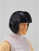 "Headgear: Black Flight Helmet - 1:18 Scale Modular MTF Accessory for 3-3/4"" Action Figures"