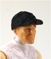 "Headgear: Baseball Cap BLACK Version - 1:18 Scale Modular MTF Accessory for 3-3/4"" Action Figures"