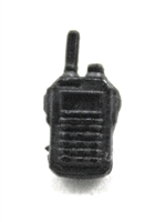 Radio Walkie Talkie: BLACK Version - 1:18 Scale MTF Accessory for 3 3/4 Inch Action Figures