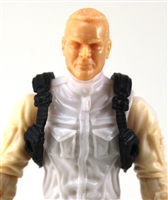 "Male Vest: Shoulder Rig BLACK Version - 1:18 Scale Modular MTF Accessory for 3-3/4"" Action Figures"
