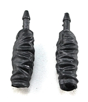 "Female Forearms: Black Cloth Forearms (NO Armor) - Right AND Left (Pair) - 1:18 Scale MTF Vakyries Accessory for 3-3/4"" Action Figures"