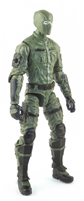 "MTF Male Trooper with Balaclava Head GREEN & Black ""Field-Ops"" Version BASIC - 1:18 Scale Marauder Task Force Action Figure"