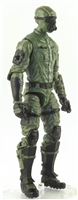 "MTF Male Trooper with Masked Goggles & Breather Head GREEN & Black ""Field-Ops"" Version BASIC - 1:18 Scale Marauder Task Force Action Figure"