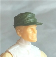 "Headgear: Fatigue Cap GREEN Version - 1:18 Scale Modular MTF Accessory for 3-3/4"" Action Figures"