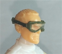 "Headgear: Standard Goggles with Strap GREEN Version - 1:18 Scale Modular MTF Accessory for 3-3/4"" Action Figures"