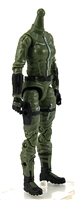 "MTF Female Valkyries Body WITHOUT Head GREEN with BLACK ""Field-Ops"" Version BASIC - 1:18 Scale Marauder Task Force Action Figure"