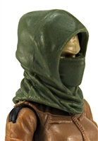 "Headgear: Hood GREEN Version - 1:18 Scale Modular MTF Accessory for 3-3/4"" Action Figures"