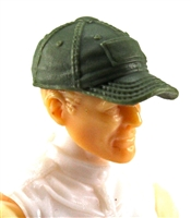 "Headgear: Baseball Cap GREEN Version - 1:18 Scale Modular MTF Accessory for 3-3/4"" Action Figures"