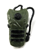 "Camel Hydration Pack: GREEN & BLACK Version - 1:18 Scale Modular MTF Accessory for 3-3/4"" Action Figures"