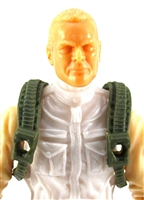 "Steady Cam Gun: Steady Cam Harness GREEN Version - 1:18 Scale Modular MTF Accessory for 3-3/4"" Action Figures"