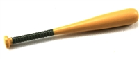 Baseball Bat: Wood color with GREEN handle grip - 1:18 Scale Weapon Accessory for 3 3/4 Inch Action Figures