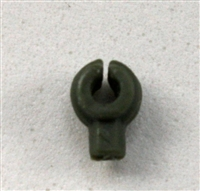 """C-Clip"" Universal Modular Mounting Peg: Green Version - 1:18 Scale MTF Accessory for 3 3/4 Inch Action Figures"