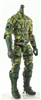 "MTF Male Trooper Body WITHOUT Head DARK GREEN CAMO ""Spec-Ops"" Armor Leg Version BASIC - 1:18 Scale Marauder Task Force Action Figure"