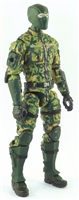 "MTF Male Trooper with Balaclava Head DARK GREEN ""Spec-Ops"" Version BASIC - 1:18 Scale Marauder Task Force Action Figure"