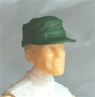 "Headgear: Fatigue Cap DARK GREEN Version - 1:18 Scale Modular MTF Accessory for 3-3/4"" Action Figures"