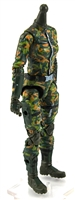 "MTF Female Valkyries Body WITHOUT Head DARK GREEN ""Spec-Ops"" Version BASIC - 1:18 Scale Marauder Task Force Action Figure"