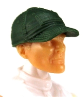 "Headgear: Baseball Cap DARK GREEN Version - 1:18 Scale Modular MTF Accessory for 3-3/4"" Action Figures"