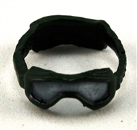 "Headgear: Large Goggles DARK GREEN Version with SMOKE Tint - 1:18 Scale Modular MTF Accessory for 3-3/4"" Action Figures"