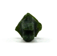 "Headgear: Helmet Mounting Plug for NVG Goggles DARK GREEN Version - 1:18 Scale Modular MTF Accessory for 3-3/4"" Action Figures"