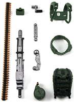 Steady-Cam Gun Gun-Metal DELUXE Set: DARK GREEN & BLACK Version - 1:18 Scale Weapon Set for 3 3/4 Inch Action Figures