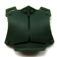 "Armor Chest Plate: DARK GREEN Version - 1:18 Scale Modular MTF Accessory for 3-3/4"" Action Figures"