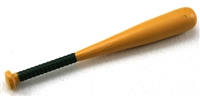 Baseball Bat: Wood color with DARK GREEN handle grip - 1:18 Scale Weapon Accessory for 3 3/4 Inch Action Figures
