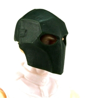 "Armor Mask: DARK GREEN Version - 1:18 Scale Modular MTF Accessory for 3-3/4"" Action Figures"
