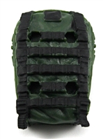 "Backpack: Modular Backpack DARK GREEN Version - 1:18 Scale Modular MTF Accessory for 3-3/4"" Action Figures"