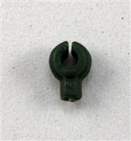 """C-Clip"" Universal Modular Mounting Peg: Dark Green Version - 1:18 Scale MTF Accessory for 3 3/4 Inch Action Figures"