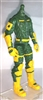 "MTF Male Trooper Body WITHOUT Head YELLOW & GREEN ""Strike-Ops"" Version BASIC - 1:18 Scale Marauder Task Force Action Figure"
