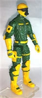 "MTF Male Trooper with Masked Goggles & Breather Head YELLOW & GREEN ""Strike-Ops"" Version BASIC - 1:18 Scale Marauder Task Force Action Figure"
