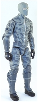 "MTF Male Trooper with Balaclava Head GRAY CAMO ""Urban-Ops"" Version BASIC - 1:18 Scale Marauder Task Force Action Figure"